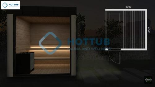 exteriérový saunový modul ZEN
